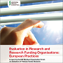 Cover: Evaluation in Research and Research Funding Organisations: European Practices