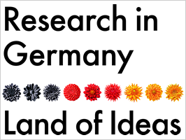 "Logo: Internationales Forschungsmarketing - ""Research in Germany"""