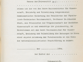 The Prussian Academy of Sciences' rejection of the election of Johannes Stark as President