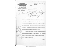 The Executive Committee's letter of resignation dated 18 May 1933