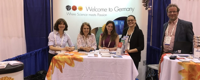 Die Research in Germany-Partner am Stand