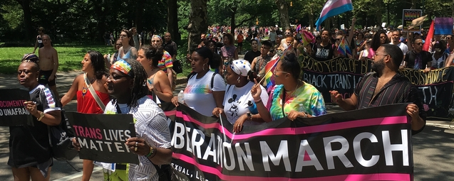 Alternativer Queer Liberation March in New York City