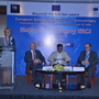 Mrs. Tania Friederichs, Head, Research & Innovation, Delegation of EU to India addressing the audience. On dais (L to R) H.E. Mr. Tomasz Kozlowski, Ambassador of the EU to India, Prof. Ashutosh Sharma, Secretary, Department of Science and Technology