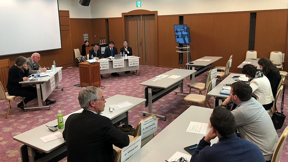 Podiumsdiskussion an der Hiroshima University