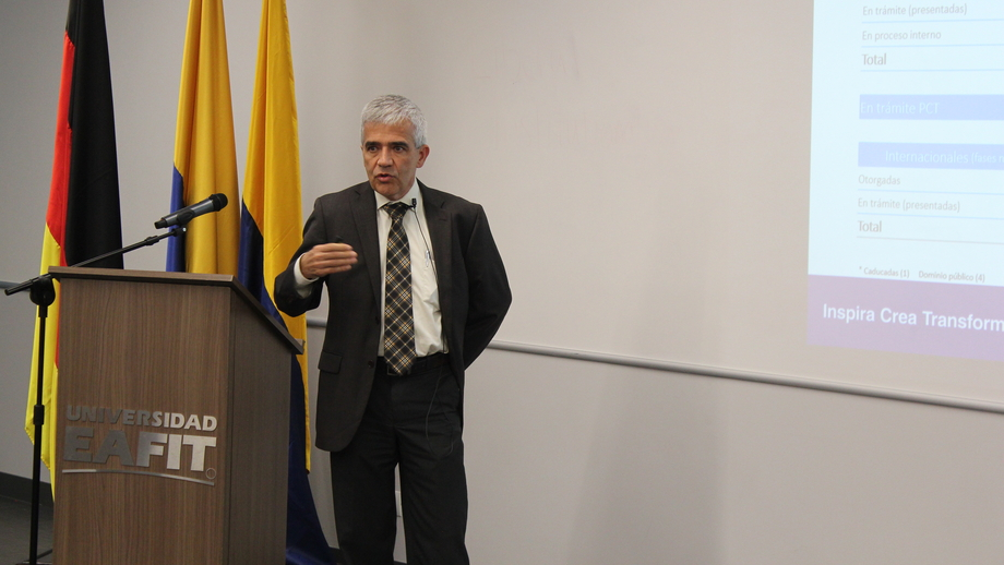 Dr. Juan Felipe Mejía from the School of Economics and Finance at EAFIT presented current German-Colombian initiatives