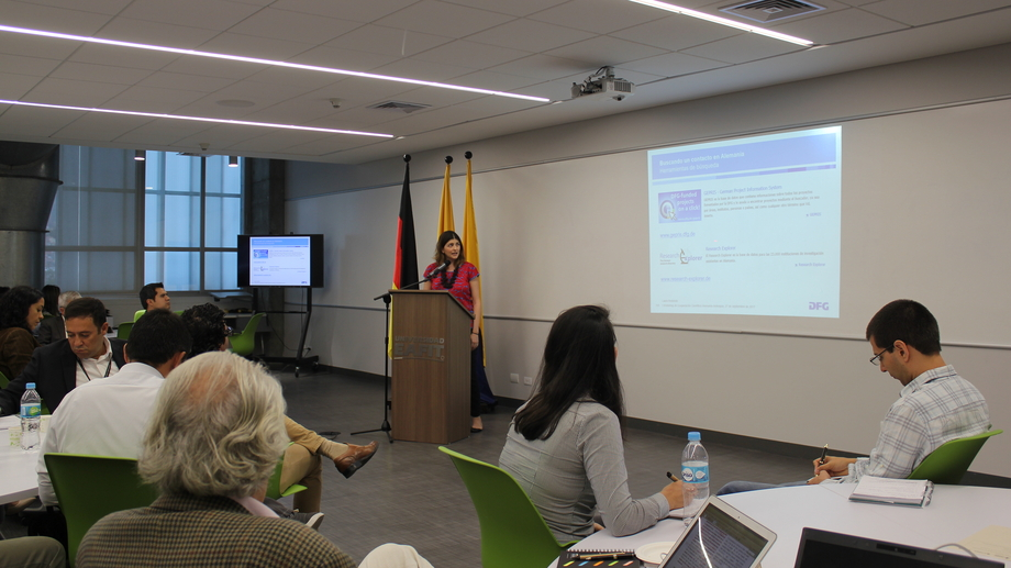 Laura Redondo presented the DFG Office Latin America and its activities in the region