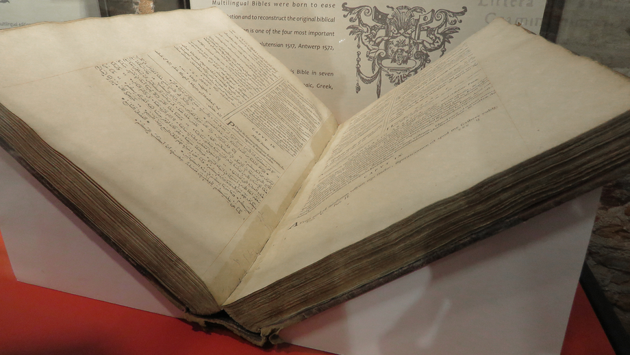 One of the most famous items in the collection of the national library in Córdoba: a Bible in seven different languages