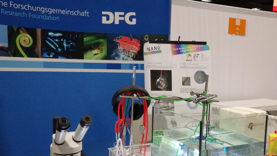 DFG booth at the USA Science & Engineering Festival in Washington, DC