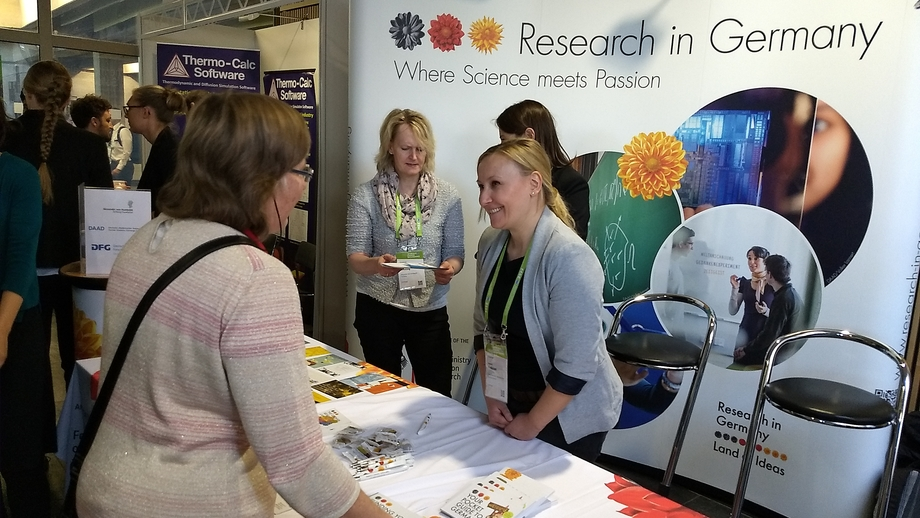 "The ""Research in Germany"" initiative greets visitors at MSE 2018"