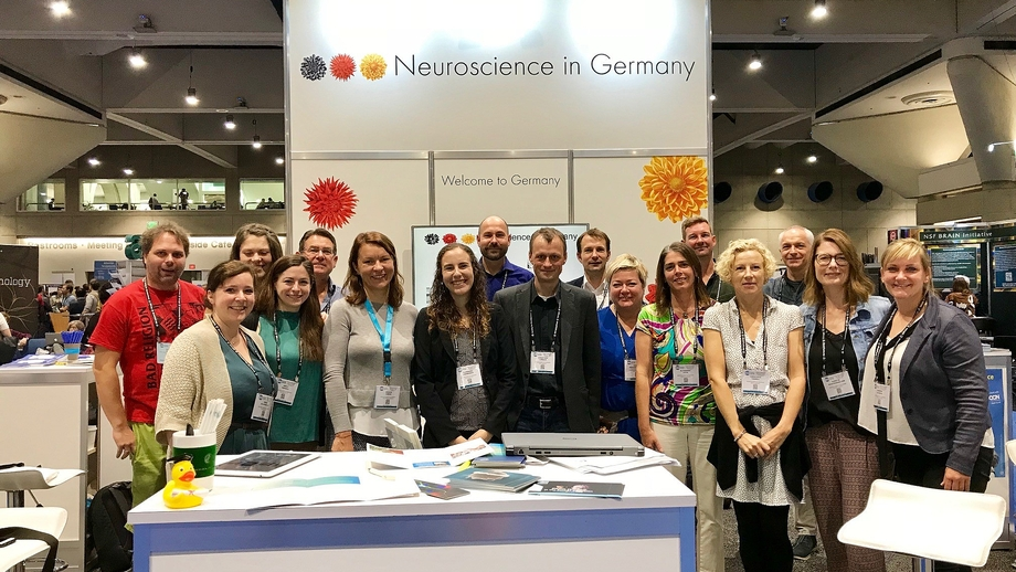 "Joint ""Research in Germany"" booth at the annual meeting of the SfN 2018"