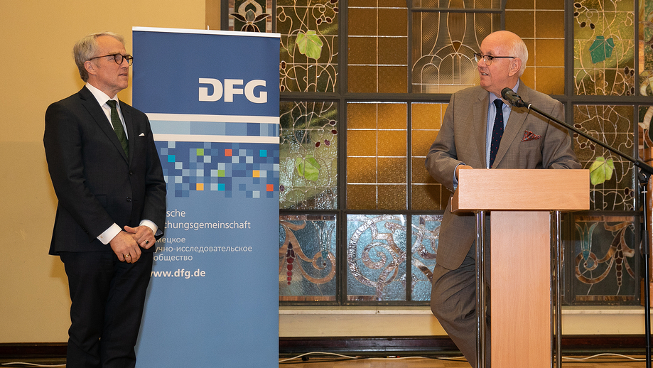 DFG President Peter Strohschneider opened the ceremonious reception